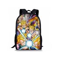 FORUDESIGNS Anime Dragon Ball Backpacks For Teenage Boys Cool Super Saiyan Sun Goku Vegeta Printing Children