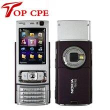 """N95 Оригинал Nokia N95 WIFI GPS 5mp 2.6 """"экран WIFI 3 Г разблокирована Восстановленное Мобильного Телефона БЕСПЛАТНАЯ ДОСТАВКА 1 Год Гарантии на складе"""