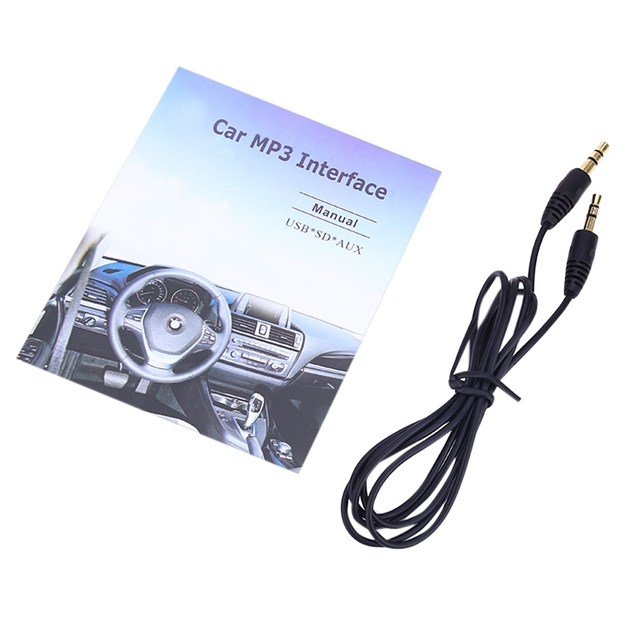Car MP3 Interface USB / SD Data Cable Audio Digital CD Changer DC 12V for Audi / Skoda / VW / Seat Built-in Amplifier Chips