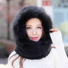 Kagenmo, Милая зимняя шапка, полная защита, высокая широта, Холодная зона, женская шапка, двойная толстая бархатная шапка