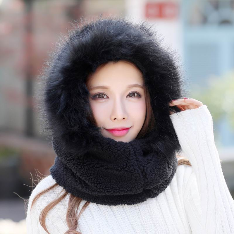 Kagenmo Doce Chapéu Do Inverno Proteção Integral de Alta Latitude Área Fria Feminino Chapéu Boné de Veludo Dupla Espessura