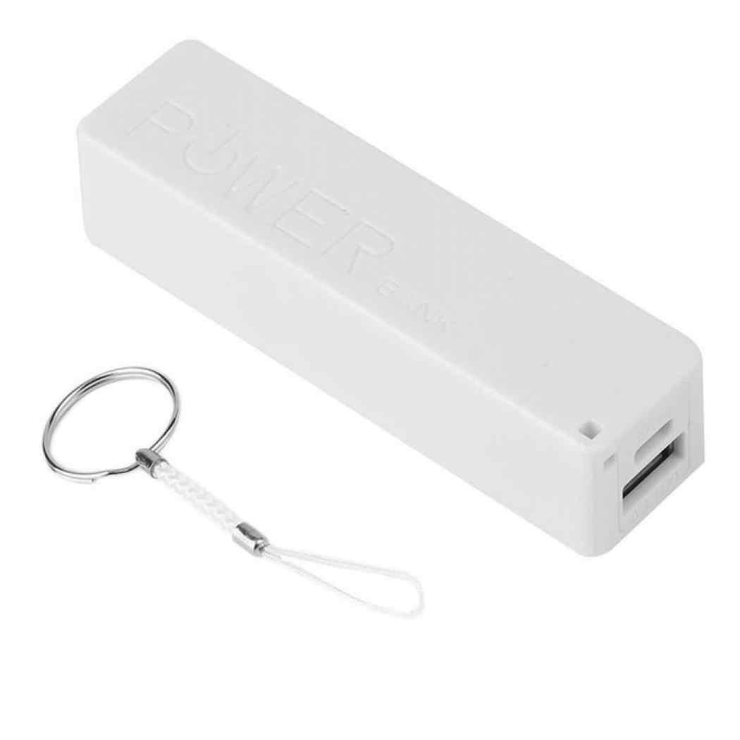 USB الطاقة جراب لشاحن البطارية الاحتياطية DIY مربع لفون ل هاتف ذكي MP3 الإلكترونية المحمول شحن لا تشمل البطارية