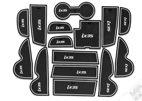 Non-slip Mat Interior Door Pad Cup Mat For Hyundai Ix35 2013-2017,15pcs/lot,car Styling, Auto Accessories