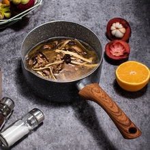 22CM/24CM/26CM Wooden Handle Skillets Cast Iron Uncoated Omelette Steak Frying Pan Non-stick Cooking Pot Top Quality