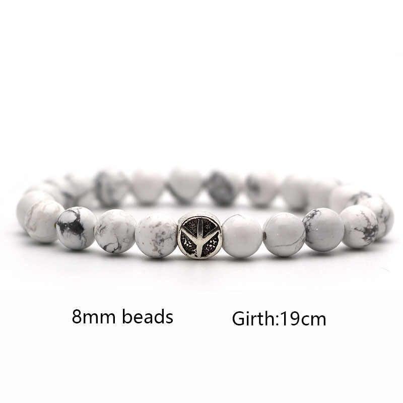 Тигровый глаз любовь самолет трендовые четки Лава бусина, натуральный камень мужские браслеты и браслеты Йога браслет для женщин ювелирные изделия