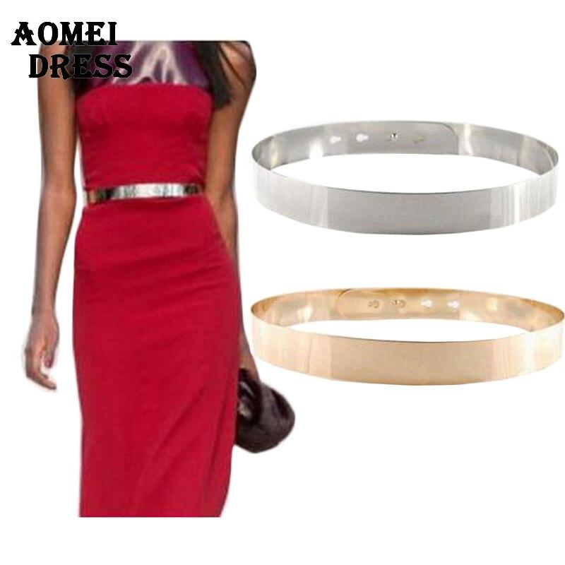 Amazing Women Summber Gold U0026 Silver Full Metal Flower Belt Shinny Like Mirror Waist Belt For Dress ...