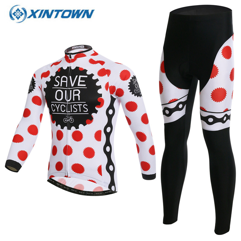 XINTOWN Pro Thin Long Sleeve Cycling jersey Sets Women Sportswear ropa ciclismo MTB Bike Bicycle 3D Gel Padded Cycling Clothing fastcute cycling jersey sets ropa de ciclismo short sleeve road bicycle jersey gel padded mountain bike clothing mtb cycle set