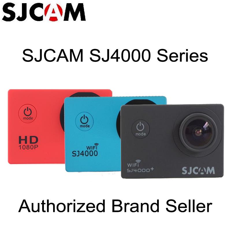 Prix pour Véritable Origine SJCAM SJ4000 Série SJ4000/SJ4000 WiFi/SJ4000 Plus Casque Action Sports DV Caméras + Silicone Protection cas