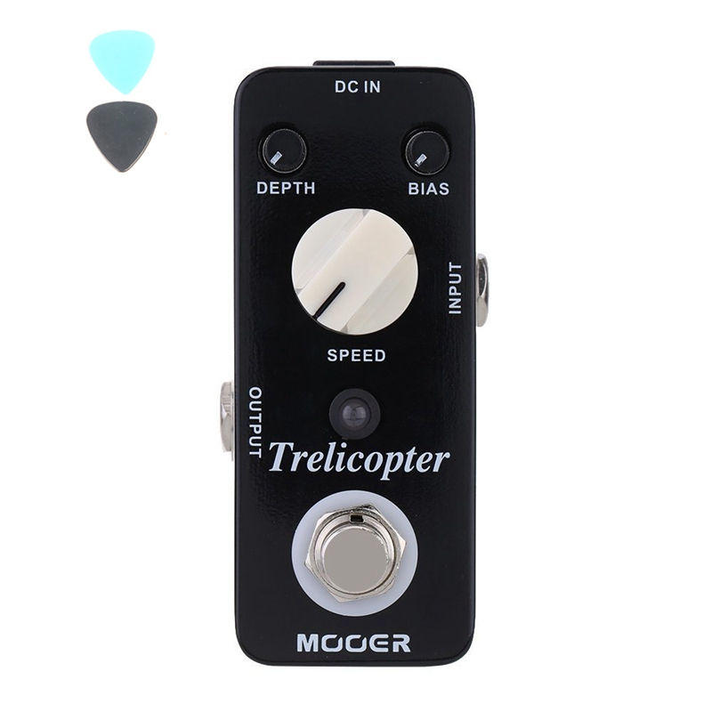 MOOER Trelicopter Tremolo Guitar Effect Pedal Classic Tremolo Speeds Pedal  Depths Adjustable Ture Bypass Guitar Accessories mooer ensemble queen bass chorus effect pedal mini guitar effects true bypass with free connector and footswitch topper