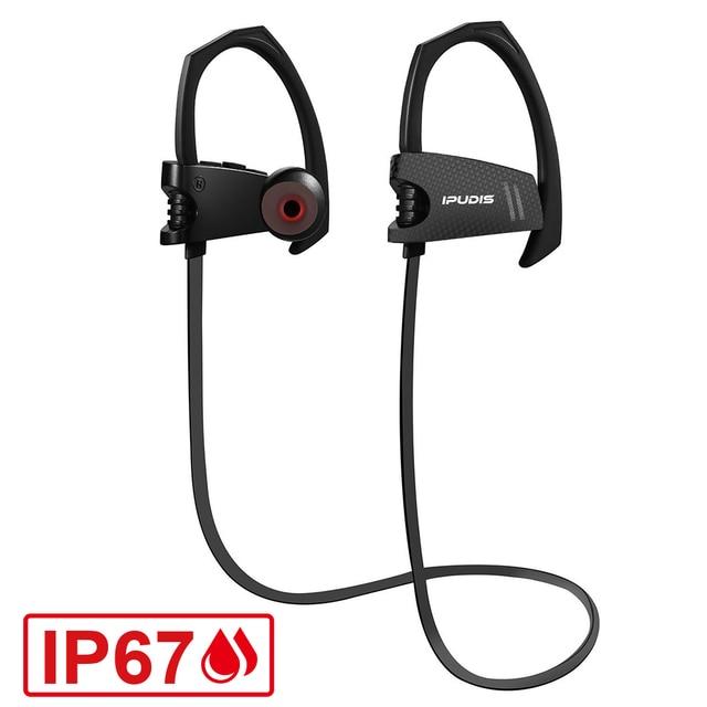IPUDIS IP67 Impermeabile Surf Bluetooth Noise Cancelling Trasduttore  Auricolare Senza Fili di Sport Della Cuffia del ed75732ca7dc