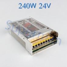 24 V 10A 240 W fuente de alimentación conmutada LED Strip Light power supply transformer 100-240 V Envío Gratis