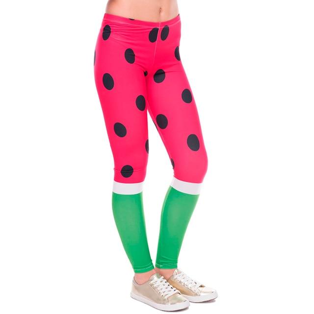 6926834ddcfbfa 2017 Women Watermelon Pattern leggins High Waist Leggings 3D Printed Basic  Casual Funny PurpleLeggin Female Skinny Pant