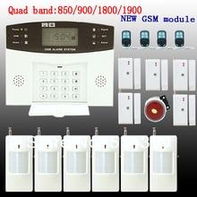 Inalámbrico Quad 433 Mhz Sistema de Alarma GSM SMS de Ladrón del Hogar de Seguridad Grande Kit de Alarma Lanuage Ruso Español Francés