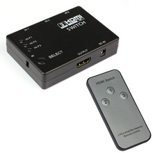 лучшая цена High Quality 3 Port 1080P HDMI Switcher Video HDMI Switch Switcher Splitter IR Remote 3 IN 1 OUT HDMI Splitter for HDTV DVD