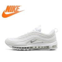 Original Official Nike Air Max 97 Men's Breathable Running Shoes Sports Sneakers men's classic Breathable Outdoor 921826 101