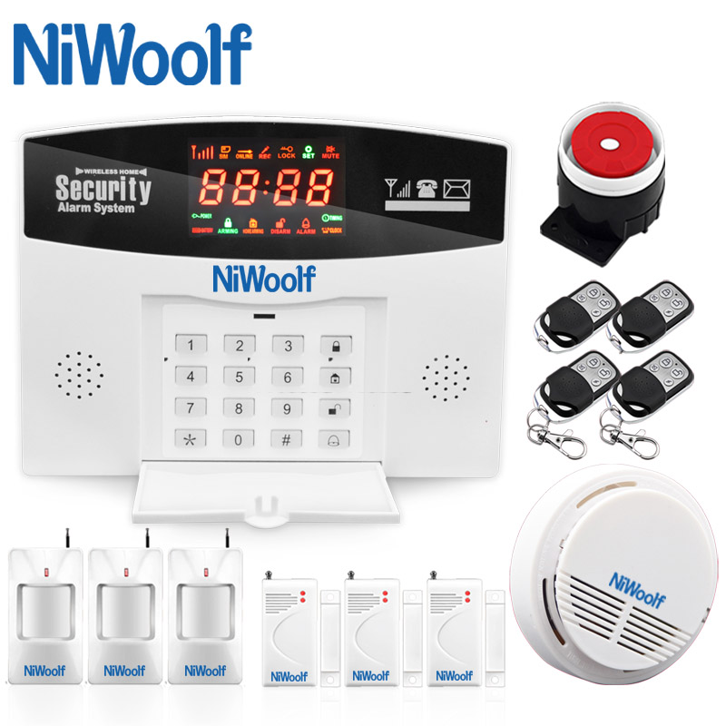 Hot Selling GSM Alarm System Support English Russian Spanish, Door Window Open Detector, Motion Alarm, Support Relay Control free shipping hot selling new fashion wireless gsm alarm system 433 mhz 315mhz support english russian spanish language