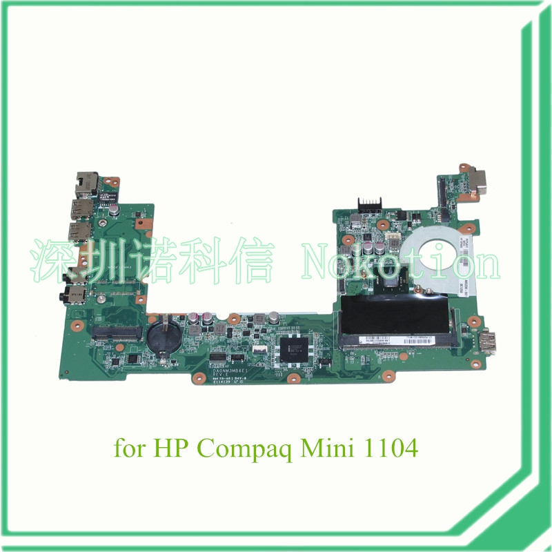 все цены на  NOKOTION DA0NM3MB6E1 REV E PN 665230-001 For HP Compaq mini 110 1104 laptop motherboard SR0DB N2600 CPU onboard DDR3  онлайн