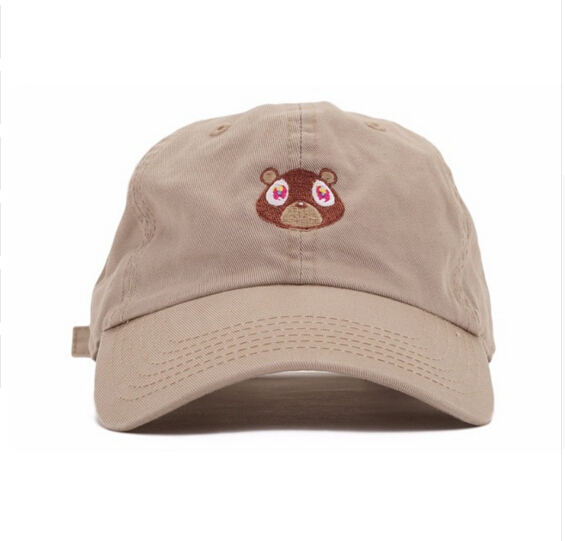2017 RARE Kanye West Ye Bear Dad Hat EXCLUSIVE Release Limited Unisex red i  feel like pablo cap casquette hats Kermit caps bbf1636761d