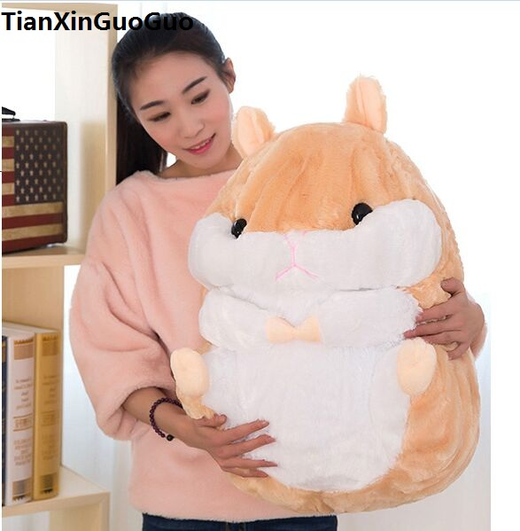 stuffed fillings toy Large 60cm light brown hamster plush toy lovely cartoon hamster soft doll hugging pillow gift s0662 fillings toy large hello kitty plush toy 60cm fruit red apple kitty cat doll soft pillow birthday gift w5342