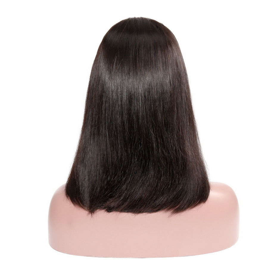 Straight Long Bob Lace Front Remy Human Hair Wig