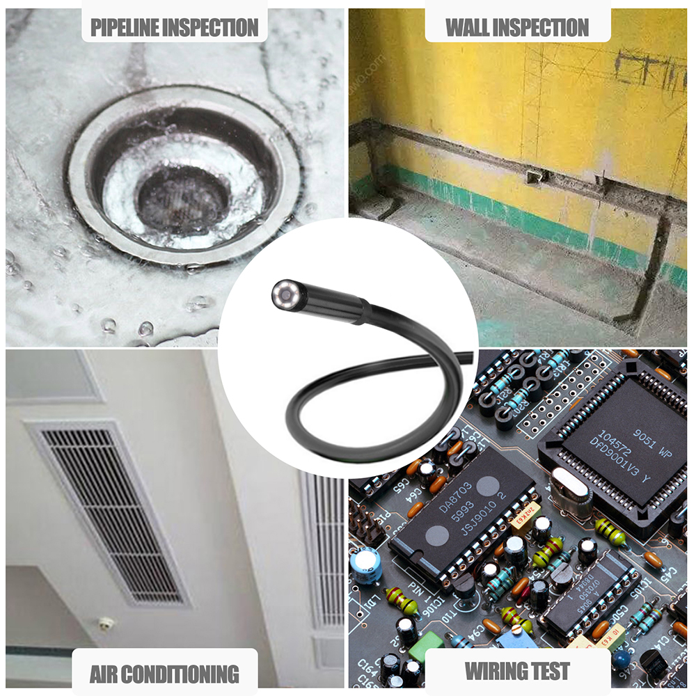 8mm 1/2/3/5 M WIFI endoscopio Mini cámara impermeable suave Cable de ...