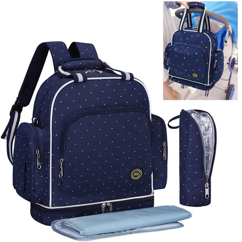Diaper Bag For Mommy Maternal Nappy Backpack Shoulder Mother Female Baby Infant Care Organizer Nursing Changing Bags Luiertas