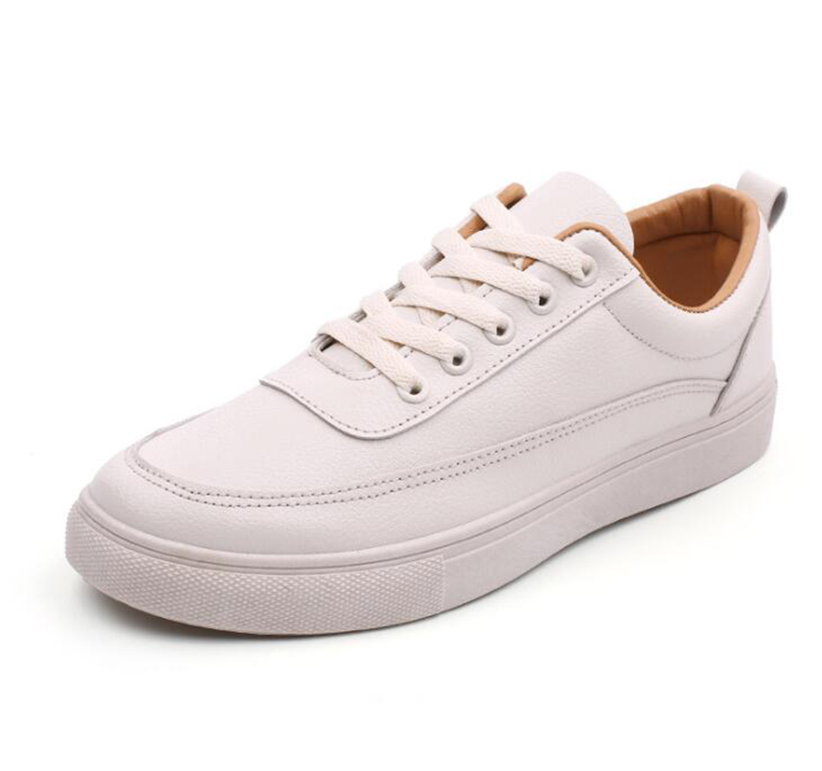 Autumn Fashion All-match Men Flats Shoes British Style Heel Lacing Male Small White Shoes Hot Sale Simple