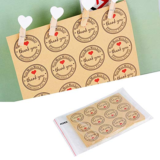 Купить с кэшбэком 120pcs thank you stickers Seal Labels For Gifts student stationery supply adesivos cute stickers scrapbooking handmade stickers