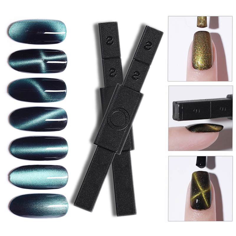 1pc 3D Cat Eyes Polish Gel Magnetic Nail Art Stick Magnet UV Painting Gel Nail Polish Tool for Manicure DIY Varnish New Design