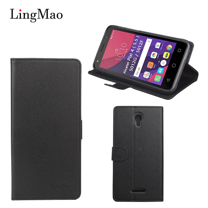 Filp Case for Alcatel Pixi 4 5.5 5012G 5012F  Case Flip  Phone Bag Case for Alcatel One Touch Pixi 4 5045X Phone Bag case