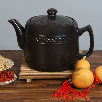 Open fire ceramic decocting medicine pot traditional Chinese medicine heat-resistant stewed soup health casserole kettle pot