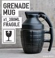 Free Shipping Hand Grenades Mug Ceramic Coffee Mugs Creative Grenade Tea Cup White and Black
