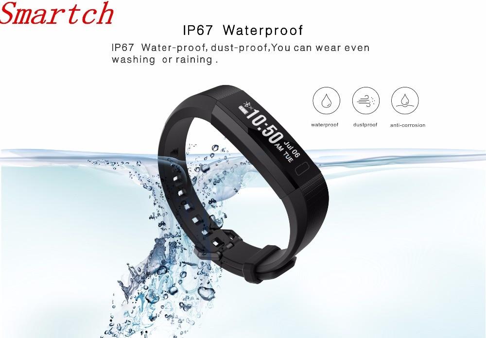 Smartch V11S New smart bracelet Fitness Tracker Sleep Monitor Wristband Heart rate Waterproof Smartband For IOS