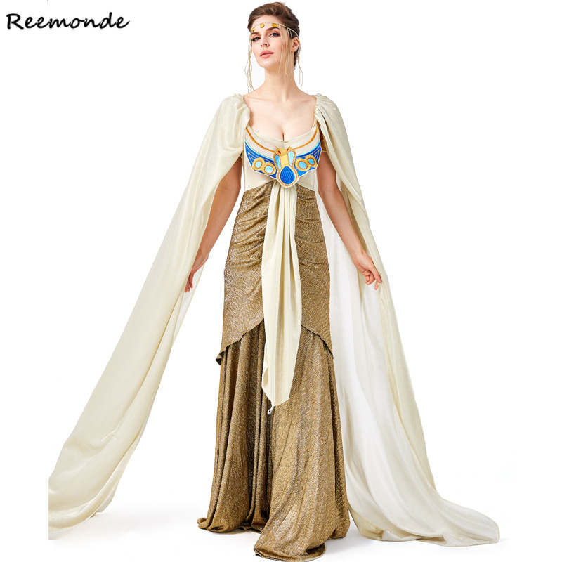 Adult Cleopatra Cosplay Costume Egypt Roman Greek Gorgeous Goddess Dresses Women Kids Dress Girls Halloween Party Fancy Clothes Buy At The Price Of 36 53 In Aliexpress Com Imall Com