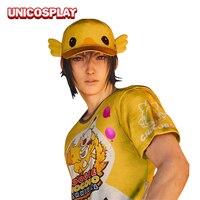 Final Fantasy XV Noctis Lucis Caelum Cosplay Carnival T Shirt Hat FF15 Moogle Chocobo Cap Tshirt