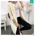 Novo 2016 Mulheres Suéter De Lã Cardigan Feminino Casaco de Cashmere Malha Plus Size puxar femme Moda Manga Comprida Blusas Soltas