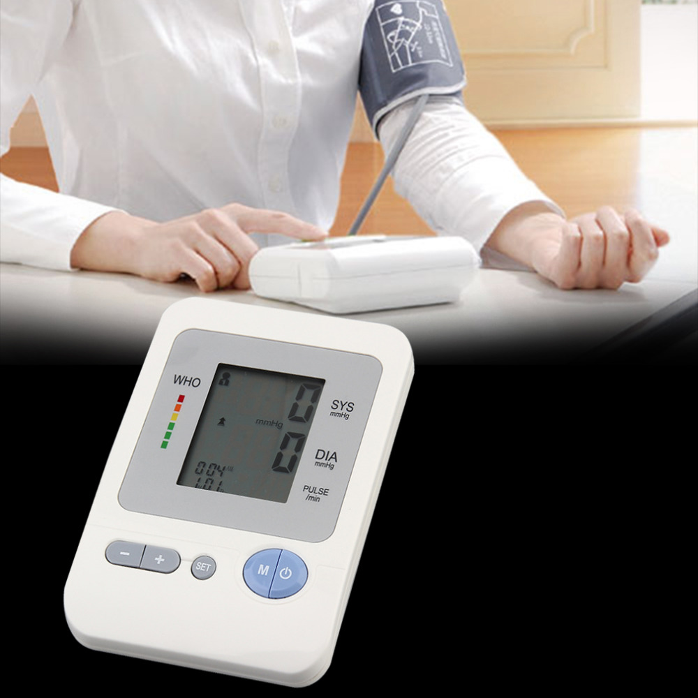 Digital Upper Arm Blood Pressure Pulse Monitors tonometer Portable health care bp Blood Pressure Monitor meters top quality