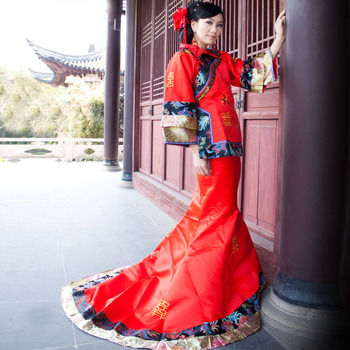 2018 New Chinese Ancient Clothing Show Pratensis Suit Costume Wedding Dress Bride Chinese Style Wedding Dress Marriage