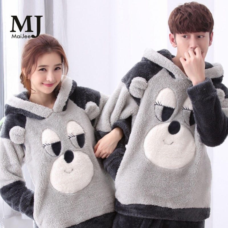 MJ103 Winter Thick Couple Pajamas Pijamas Women Pijama Kigurumi Pigiama Donna Pyjama Femme Pizama Damska Pajama Set Pyama Woman