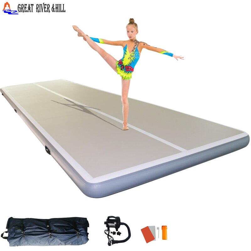 Piste de gymnastique aérienne utilisée pour l'entraînement sportif de fitness taille 20ftx6. 5ftx8inch pompe à main et kit de réparation gratuitement