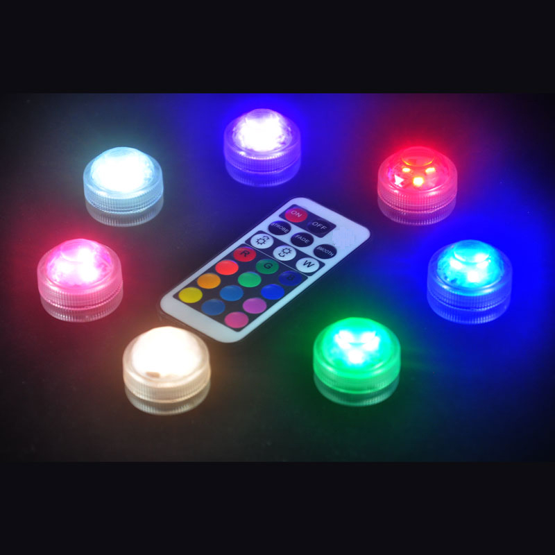 Blinking LED submersible floralytes Light Remote controlled floral tea Candle Lights for Wedding Xmas Party decoration