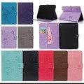 Для samsung tab 4 10.1 PU Кожаный Чехол Стенд Tablet Cover чехол Для Samsung Galaxy Tab 4 10.1 SM-T530 T531 T535 Ж/Карты слоты