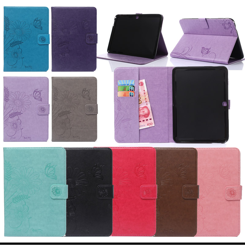 For samsung tab 4 10.1 PU Leather Case Stand Tablet Cover Case For Samsung Galaxy Tab 4 10.1 SM-T530 T531 T535 W/Card Slots colorful magnetic pu leather case cover for samsung galaxy tab s2 8 0 sm t710 t715 tablet stand with card holder y4d33d