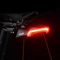 GIYO 자전거 라이트 LED 레이저 경고 사이클링 리어 라이트 원격 턴 사이클링 테일 램프 USB 충전식 무선 방수 라이트