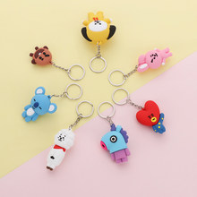 Korean Style Fashion BTS Cartoon BT21 Keychain K Pop Accessories Bag Pendant Keyring Bangtan Boys Holder Handbag Strap Jewelry(China)