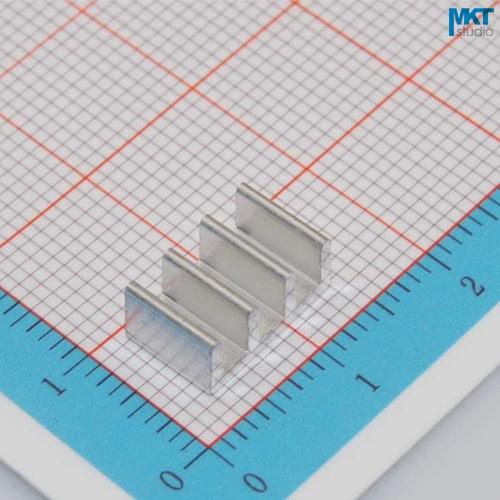100Pcs 11mmx5mmx7mm Pure Aluminum Cooling Fin Radiator Heat Sink