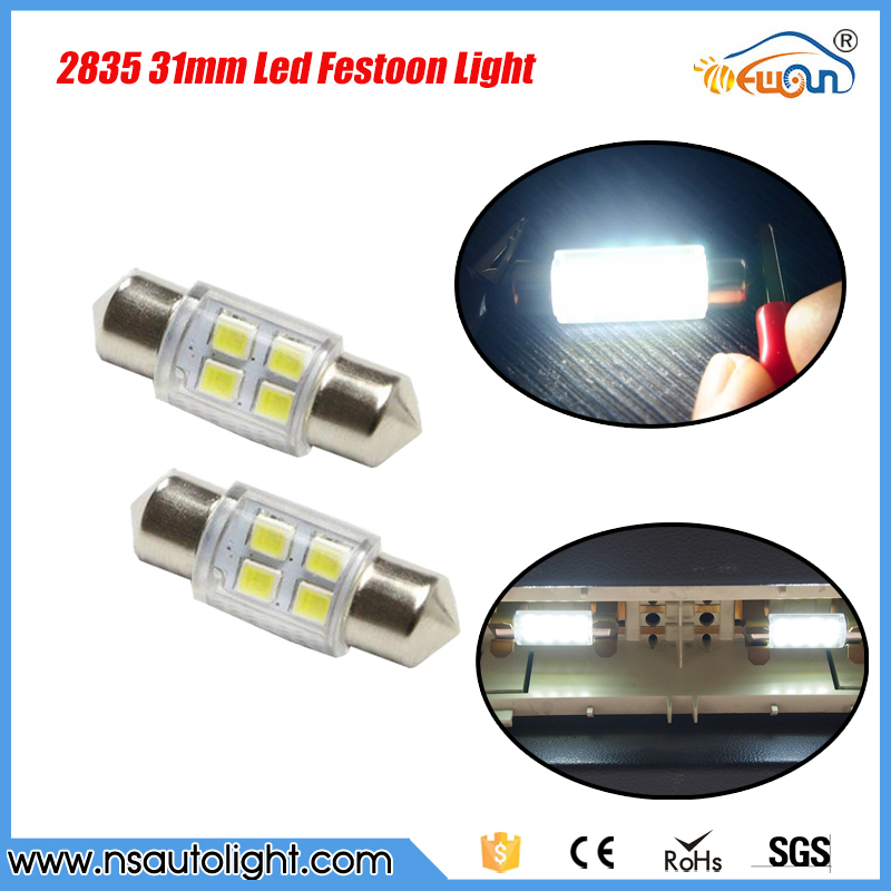 2pcs super white 31mm festoon 2835 smd led c5w car led auto interior dome door light lamp bulb. Black Bedroom Furniture Sets. Home Design Ideas