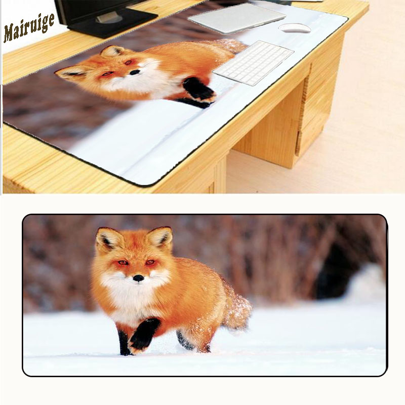 Mairuige Snow Fox Gaming Mousepad Gear Animal Gamer Mouse Mat Pad Game Computer 700x400x2mm Padmouse Photo Play Mats in Mouse Pads from Computer Office