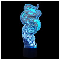 CNIM Hot 3D Optical Illusion Desk Lamp 7 Colors Change Touch Button USB Nightlight Produces Unique