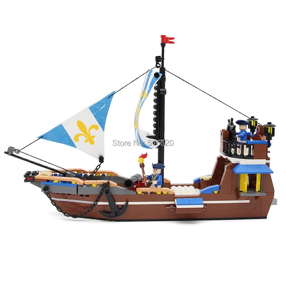 GUDI Royal Ship 312pcs Bricks Building Blocks Sets Legend Of Pirates ...
